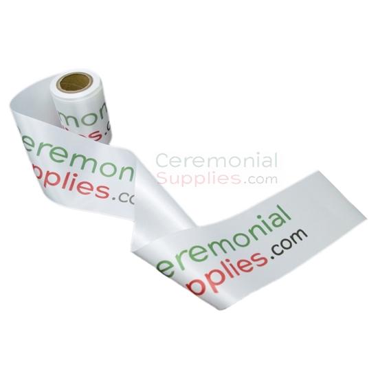 Main image of the Custom Printed Ceremonial Ribbon Cutting Ribbon.