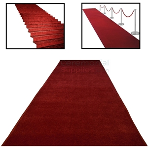 Main image of Deluxe Ceremonial Red Carpet with use examples.
