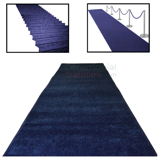 Deep Blue Event Carpet Runner main picture with examples.
