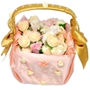 Photo of the Peach Flower Girl Wedding Basket in top view.