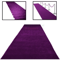 Various Examples of a Deluxe Purple Event Carpet Runner.