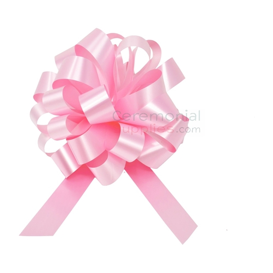 Photo of the ceremonial Pink 8 Inch Pull bow