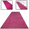 Picture of Pink Ceremonial Aisle Runner with alternate use examples.