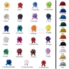 Picture of Hard Hat and Bow Mix and Match Color Combinations for Deluxe Groundbreaking Kit.
