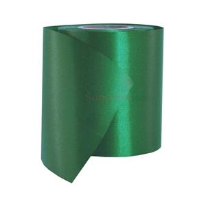 Full roll of green grand opening ribbon.