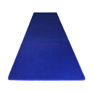 Picture of Standard Royal Blue Event Carpet Runner Rolled Out for Event.