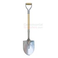 Image of Polished Chrome Head Ceremonial Shovel.