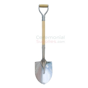 Image of Polished Chrome Head Ceremonial Shovel.