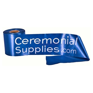 Picture of Ceremonial Ribbon Cutting Ribbon Custom Printed in White.