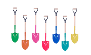 Picture for category Colorful Groundbreaking Shovels