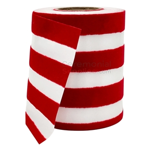 Pictured red and white stripes ribbon
