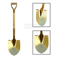 Picture of VIP Golden Ceremonial Shovel in various poses.