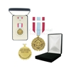 Pictured 1-3/8 Inch Defense Meritorious Military Medal with Black Velour and Official Govt. Boxes