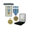 Pictured  1-3/8 Inch Joint Service Achievement Military Medal with Black Velour and Official Govt. Boxes
