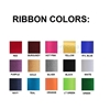 Picture of all ribbon color swatches.
