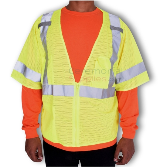 Man wearing a Lightweight Standard Safety Vest