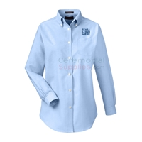 Front of a Classic Wrinkle-resistant Ladies Oxford Shirt