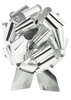 """Photo of 14"""" Metallic Silver Pull Bow"""