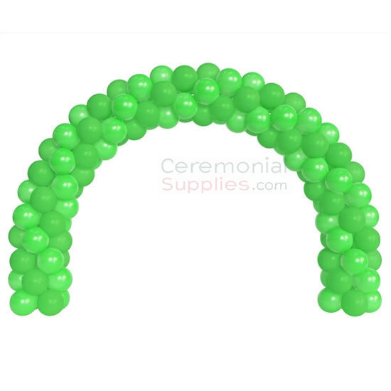 A 6 Foot Decorative Green Balloon Arch Kit