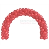 A 6 Foot Decorative Red Balloon Arch Kit