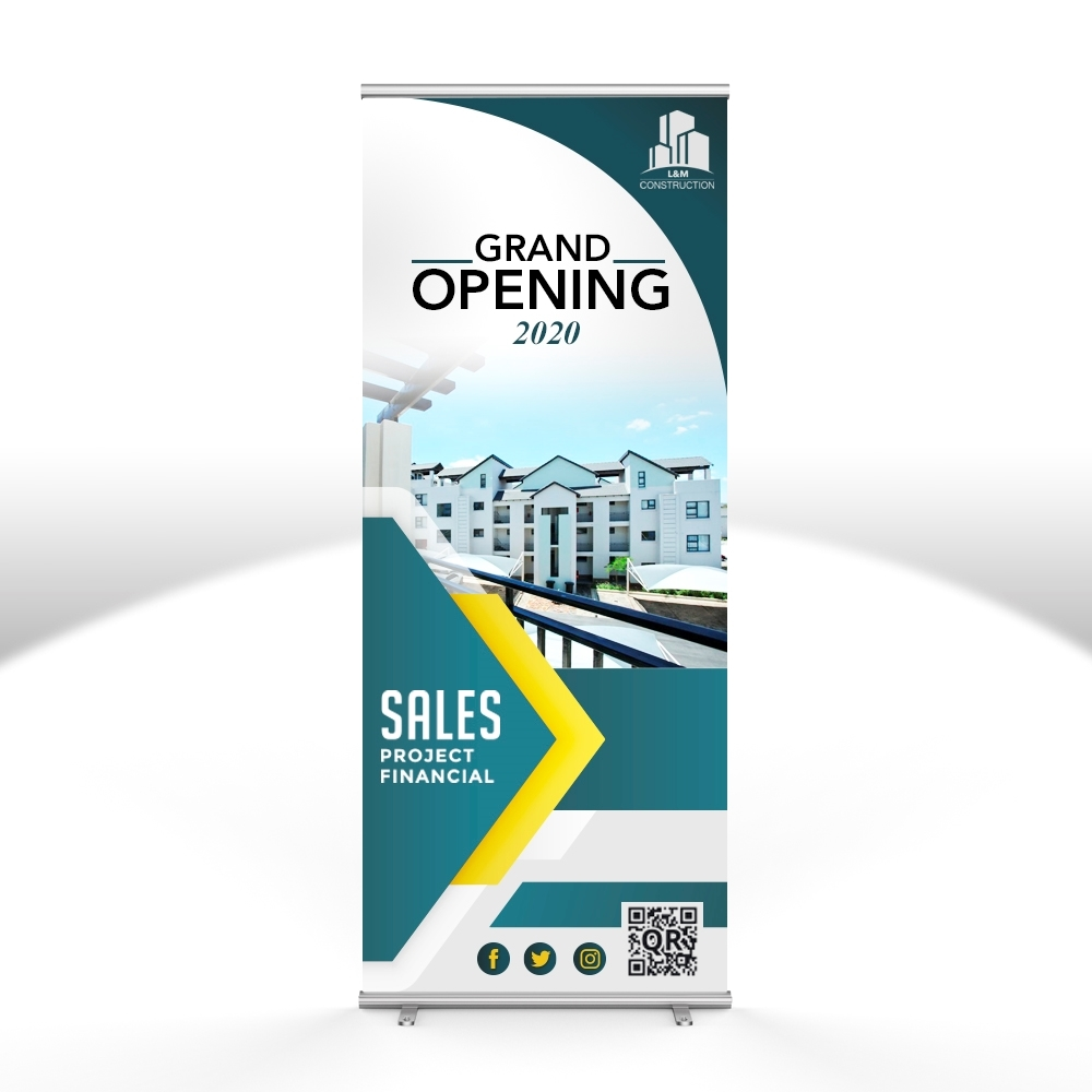 retractable vertical banner