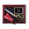 Ceremonial Scissor Display Case for 10.5 inch Scissors Front Logos Marked