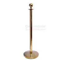 Singular Brass Ceremonial Stanchion