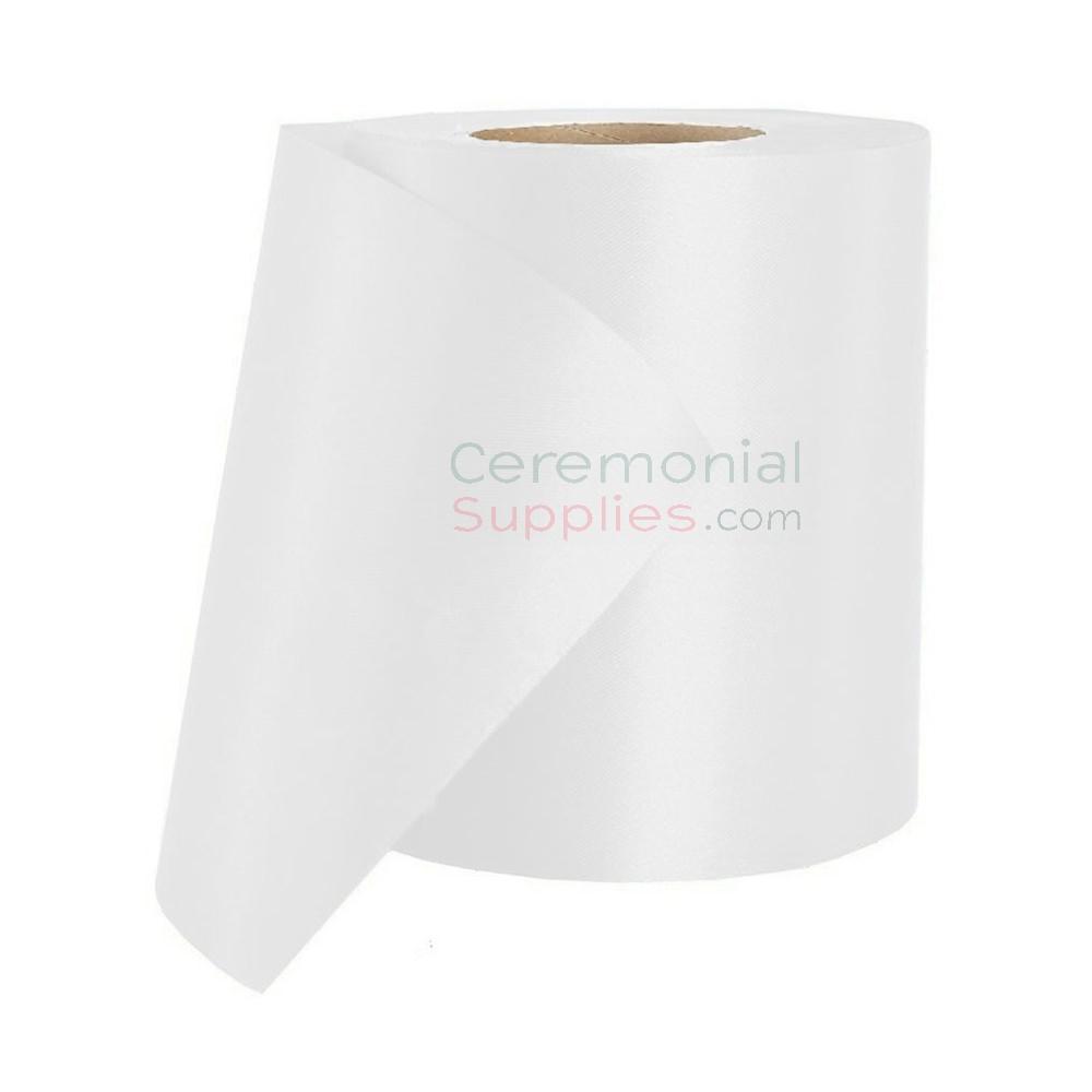 Roll of plain white grand opening ribbon