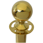 Close up of ceremonial stanchion ball top.
