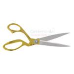 Open pose of Golden Handle Stainless Steel Ceremonial Scissors.