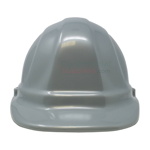 Front angle picture of a Silver Ceremonial Groundbreaking Hard Hat.