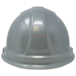 Rear view picture of a Silver Ceremonial Groundbreaking Hard Hat.