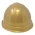 Back angle picture of a Golden Groundbreaking Ceremonial Hard Hat.