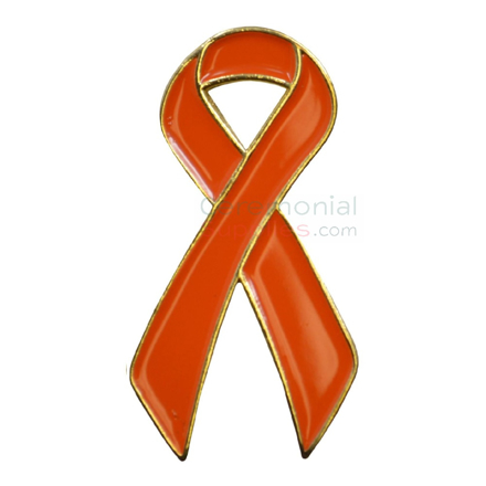 Picture of a Orange Cause Lapel Pin.