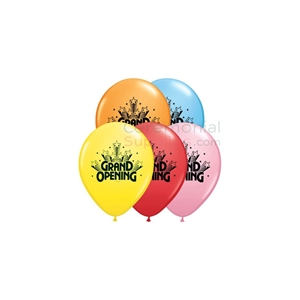 Image of a 11 Inch Grand Opening Balloon Assorted Black Text.