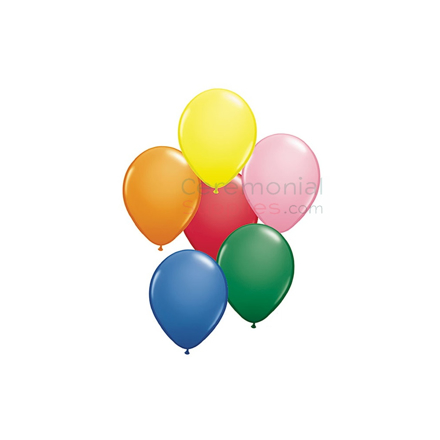 View of a Plain 11 Inch Balloons Assorted Colors.