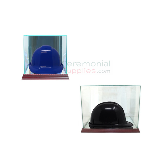 Image of a Groundbreaking Hard Hat Display Case.
