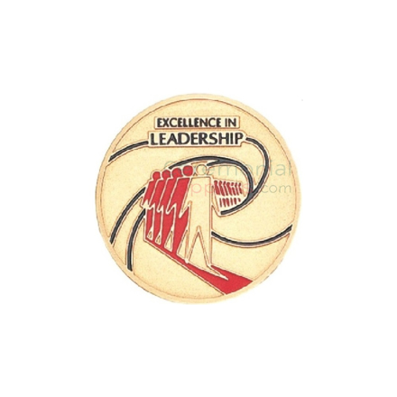 Image of an Excellence In Leadership Medal.