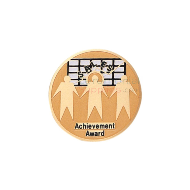 Picture of a Sales Achievement Award featuring three sales worker holding hands.