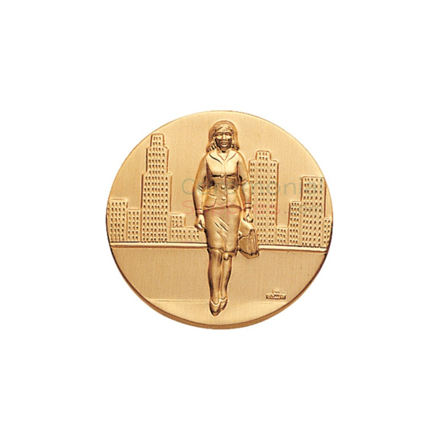 Medal featuring a sales woman on the center.