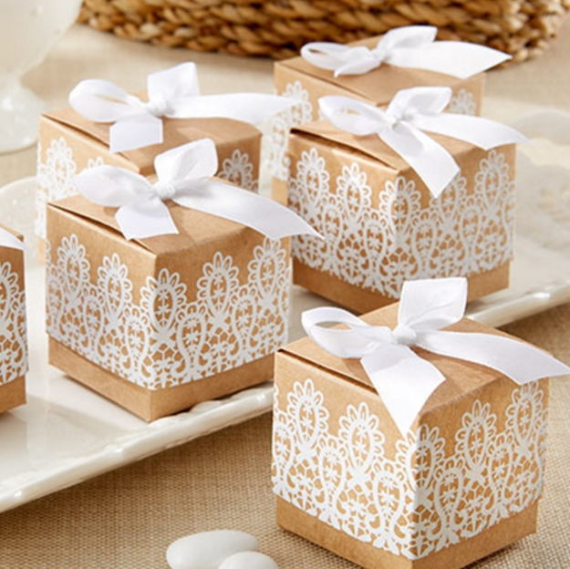 Image of a Laced with Love Favor Box.