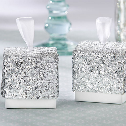 Photo of a Silvery Shine Favor Box.