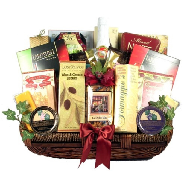 Picture of a Celebration to Remember Gift Basket.