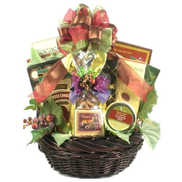 Photo of a Tuscan Thanks Italian Gift Basket.