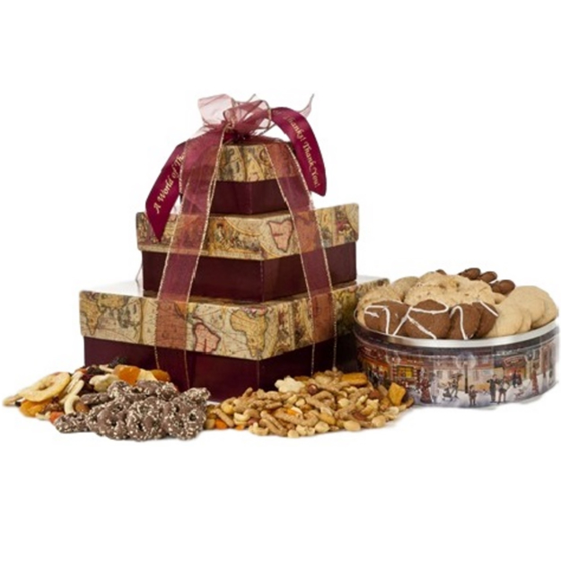 Front view of a World of Treats Gift Pack.