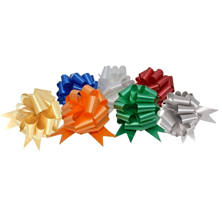 Picture of various instant assembly ceremonial pull bows.