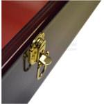 Ceremonial shovel display case with lockable door latch.