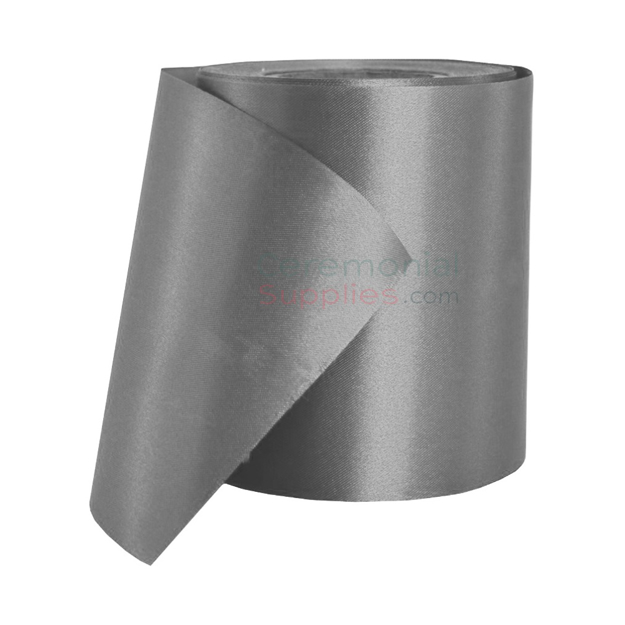 Full roll of Silver Ribbon Cutting Ceremonial Ribbon