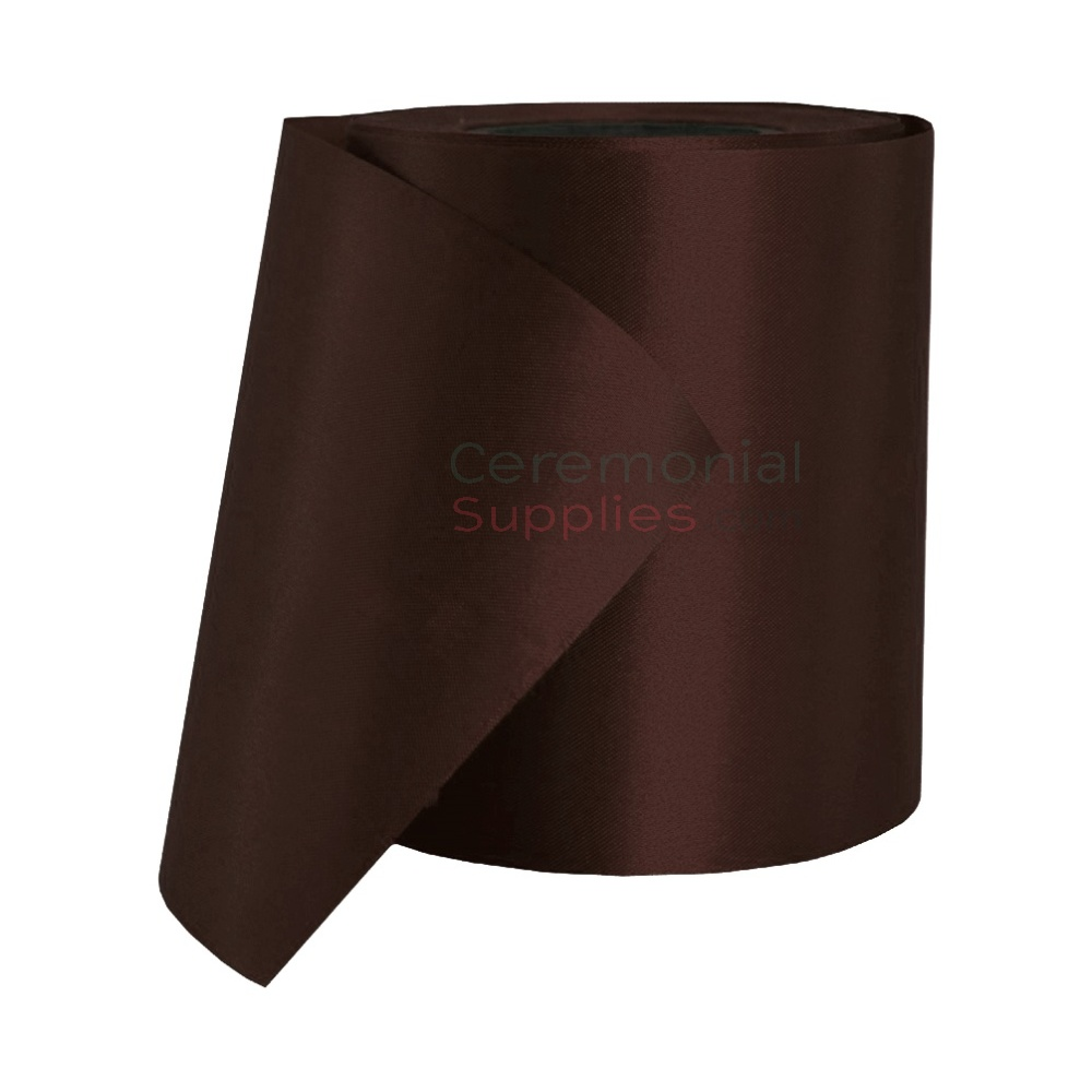 Photo of a roll of Dark Brown Ceremonial Ribbon.