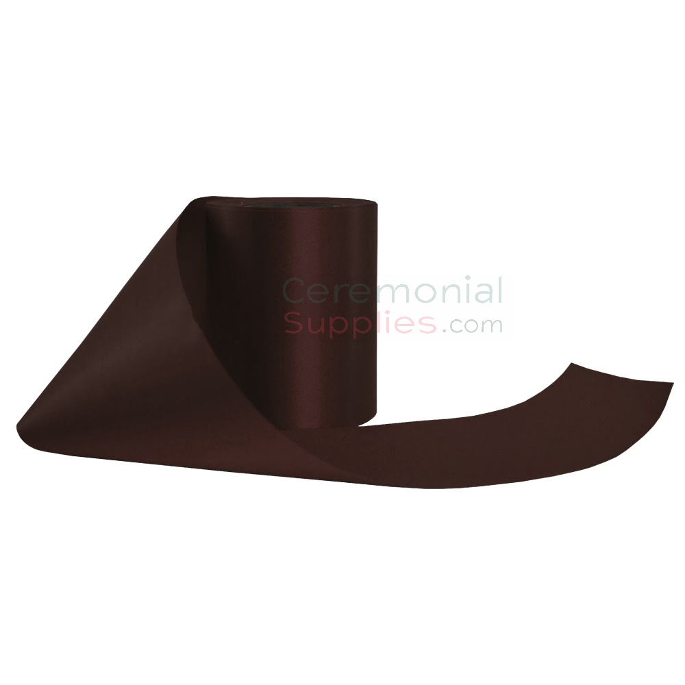 Dark Brown Ceremonial Ribbon in different pose.